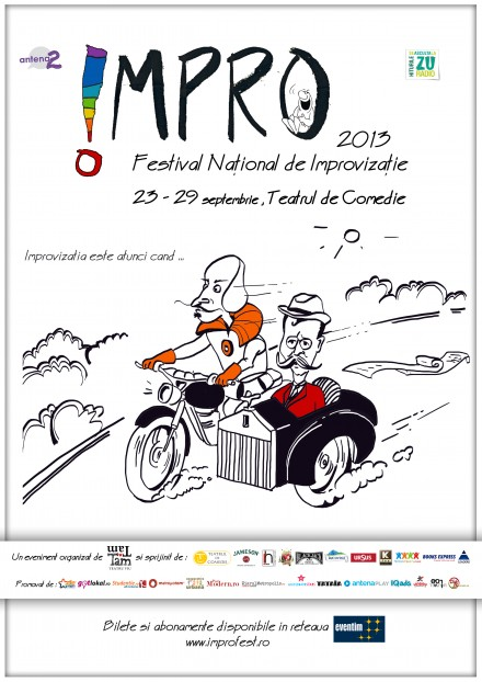 Impro Festival Illustrations and Logo