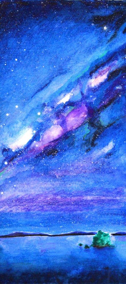 "Watercolor paintings – ""Cosmic madness"""
