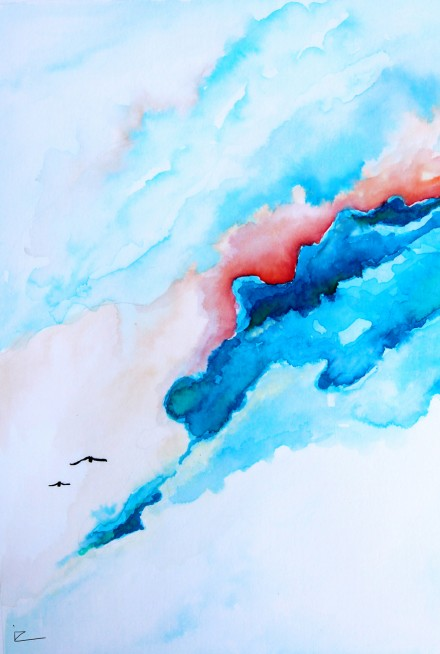 "Watercolor painting – ""Endless Skies"""